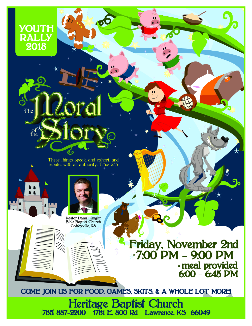 Youth Rally Flyer 2018 - The Moral of the Story