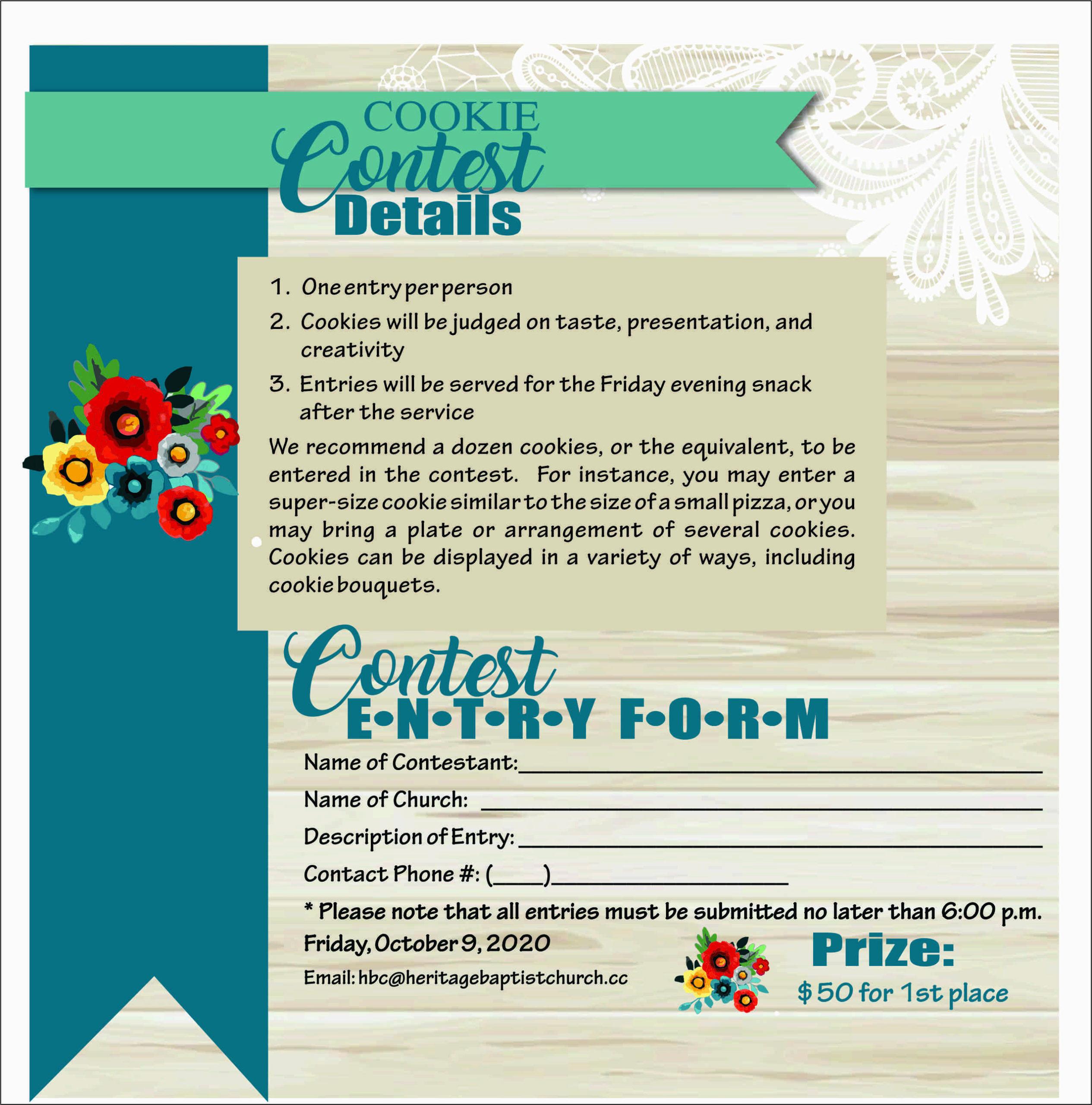 Cookie Contest details